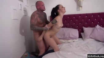 Alessa Savage loves rising to her guy crashed on her bed.