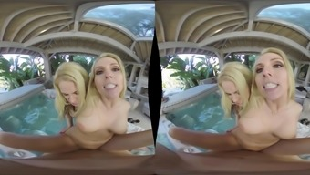 Christie Stevens and Sarah Vandella are blondes who wish to effectively feel a dick