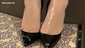 handjob in high heel boots sperm