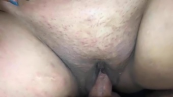 Plus-size woman spew on cock