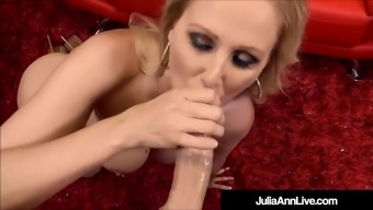 big boobed blonde milf julia ann massage techniques & blows personal angle!