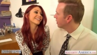 Redheaded missy Monique Alexander fuck in place of work