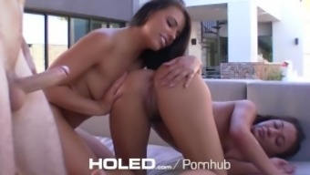 HOLED - Adriana Chechik take the time to show her stepsister Amara Romani to effectively rectum