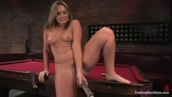 Foul Flower Tucci gets her succulent genitals crammed by a system