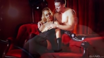 Cute Lexi Lowe gets her pussy fucked whereas her boobs bounce