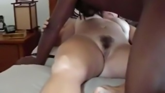 Surpassing guy fucks my cuckold wife missionary and breeds her