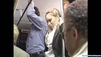 Blond groped to really orgasm on train