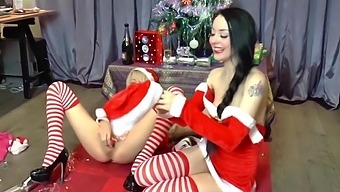 Alessa Savage and April Paisley at Xmas part 3
