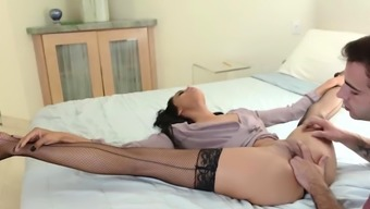 Latina stepaunt throats and fucked by her stepnephews cock