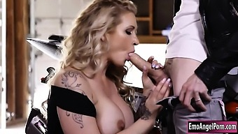 Huge boobs tattooed MILF Ryan Conner gets her pussy wrecked