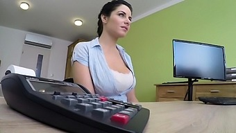 Busty Miss Fisher fucked on office desk