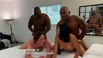 Couple takes on two bisexual bbcs! must see!