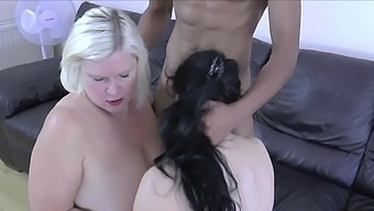 Skinny dude fucks wet cunts of Lacey Starr and Devon Breeze