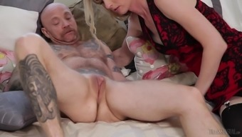 Mandy Mitchell serves as a chick with a cock prepared for a perverted act