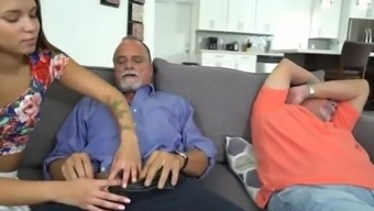 Move daddy uses vibrator on ally's female descendant