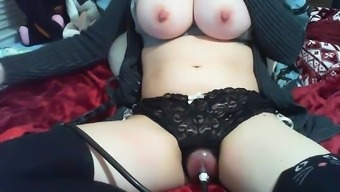 Newbie Busty Nipple Clamps and Pussy Pump