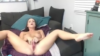 Abigail Mac major ass blonde publicizing her vaginal canal and masturbating.