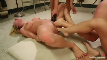 extreme path fisting lesbian orgy with four evil whores