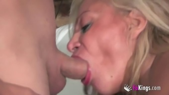 Alexa Blune serves as a blond cougar who wants perform along with males