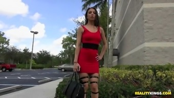 alexis rodriguez was noticed in a sophisticated high heels and upper legs