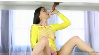 incredible alexis rodriguez touching off a tilt at massage session parlor