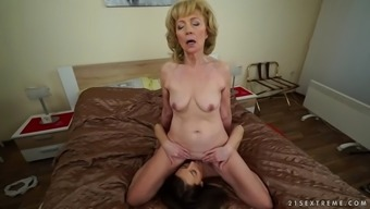 kinky euro granny szuzanne enjoys katy rose's wonderful pussy