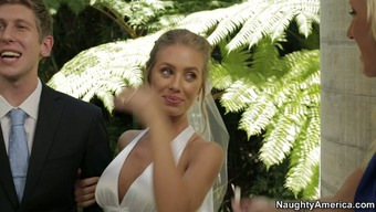 Nicole Aniston hack on top of her fiance with the special day