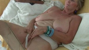 British granny Isabel gives fanny a delicacy