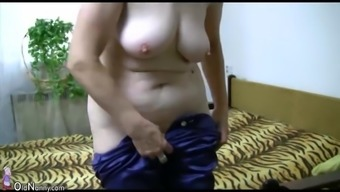 OldNanny Old granny acts with younger adult man and sextoy