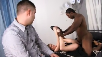 White stud wrist watches as his wife gets her pussy fucked & have to deal with creamed by maximum bloke