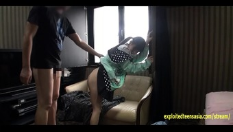 Little Jav Teenager Fucks In their Hoodie Upon the Sofa Really Lovely