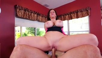 Perverted mom aproximately fucked inside the pussy by male along with intense penis