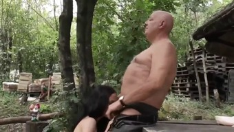 Attractive stud fucks his hot pregnant co-worker within the yard