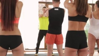 FitnessRooms Barbara Bieber has got a sensual work out after gym lesson
