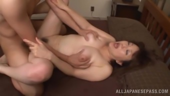 Oriental milf is fucked silly by the a naughty porn star
