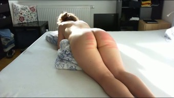 Perverted passive large bottomed partner of my friend got her bum spanked