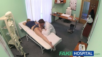FakeHospital Innocuous blond is granted the doctors rubdown