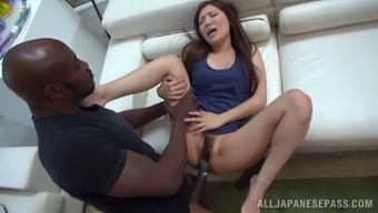 Exciting Japanese infant gets her twat flexed out by using a big topmost cock