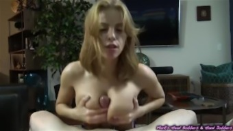 Attractive blond with a sweet set of containers blows off her sketchy landlord