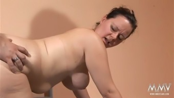Chubby black haired homemaker with the use of big titties sucks tiny penis of the mankind on your bed