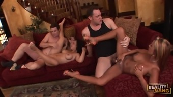 Round Breasted Spouses Demi Delia and Hollow West Switch Partners on Video