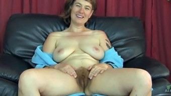 Tremendously hairy senior slut shows off her moist absolutely adore dig