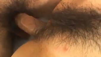 Little Japanese people fucked profound in her furry pussy