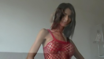 Slender Czech by using Large Tits Trys it on for You