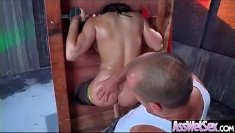 Immersed Anus Sex On Strip By using Large Curvy Butt Perverted Girl (Abella Risk) vid-02