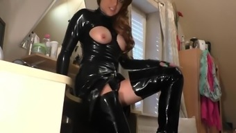 MILF black latex and shoes