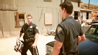 Pornstars Allie and Andy are consumed selling point of by hard-core cop in even