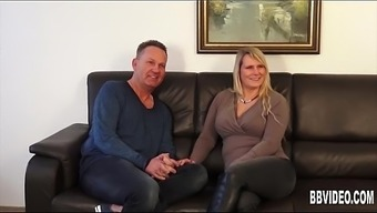 Busty a language like german milf takes two different cocks