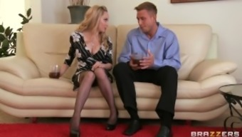 Stunning pale MILF Aiden Starr makes her son-in-law to cheat